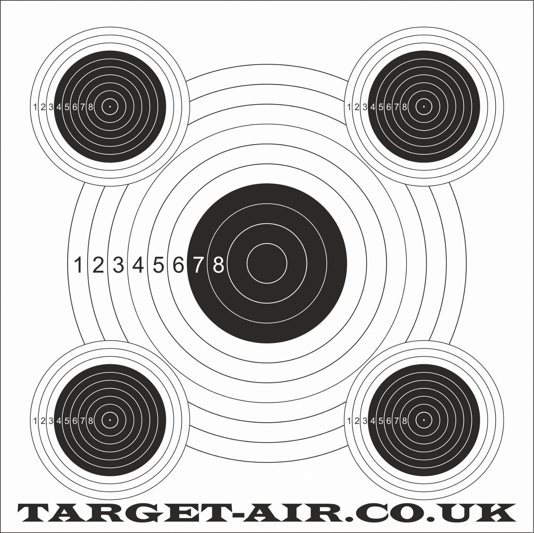 This is an image of Unusual Printable Airgun Targets